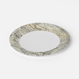 Correct map of Dakota 7 Inch Paper Plate