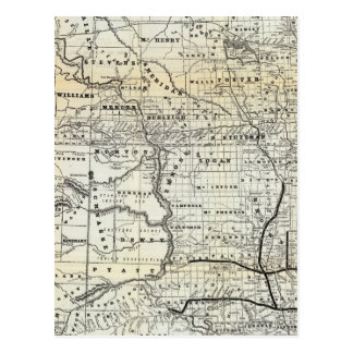 Correct map of Dakota Postcard