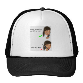 Correct radio procedure trucker hat