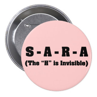 Correct spelling of Sara Pinback Buttons