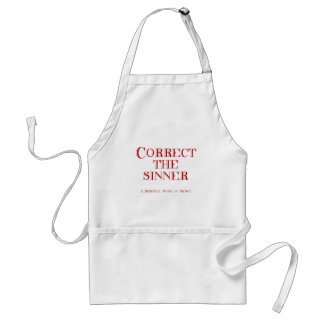 Correct the sinner adult apron