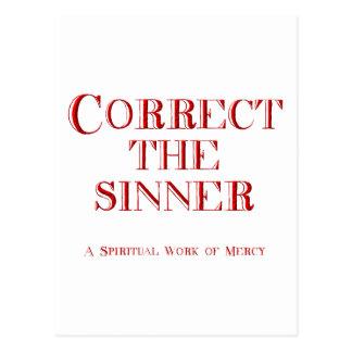 Correct the sinner postcard