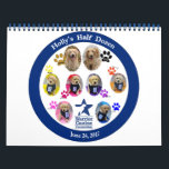 """CORRECTED Holly&#39;s Half Dozen Birthday Calendar<br><div class=""""desc"""">In this calendar each month features a collage of Holly and her Half Dozen through each of their weekly birthday pictures,  and the back of the calendar has information about WCC. Choose any style or size of calendar!</div>"""