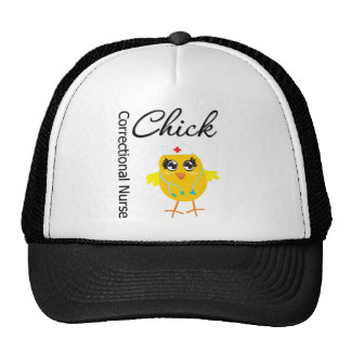 Correctional Nurse Chick Trucker Hat