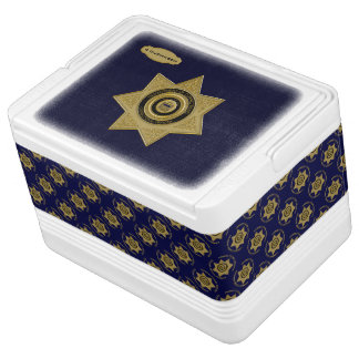 Correctional Officer Badge Gold-Blue-12 Can Igloo Drink Cooler