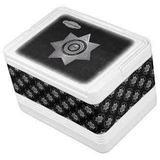 Correctional Officer Badge Silver Blk-12 Can Igloo Cooler