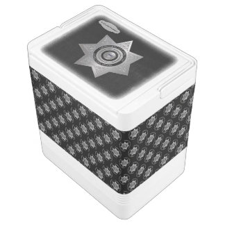 Correctional Officer Badge Silver Blk-24 Can Igloo Cooler