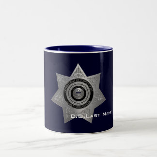 Correctional Officer Badge SILVER-Coffee Mug