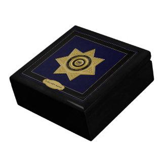 Correctional Officer Badge Trinket Box-Black Keepsake Box