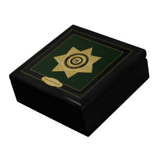 Correctional Officer Badge Trinket Box-Green Jewelry Box