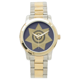 Correctional Officer Badge Wrist Watch