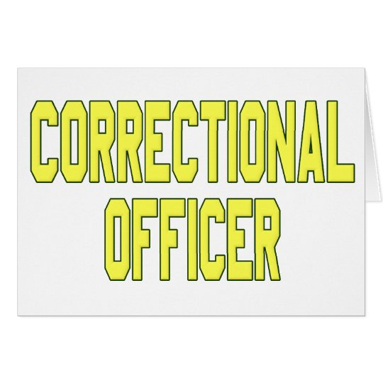 Correctional Officer Card