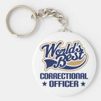 Correctional Officer Gift Basic Round Button Keychain