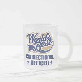 Correctional Officer Gift Frosted Glass Coffee Mug