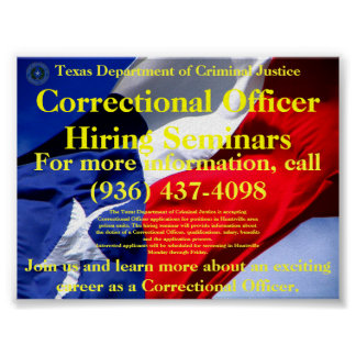 Correctional Officer Hiring Seminars Poster