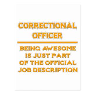 Correctional Officer .. Job Description Postcard