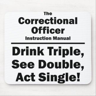 correctional officer mouse pad