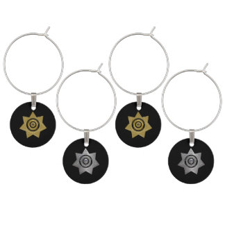 Correctional Officer Wine Charms-Black Wine Charm