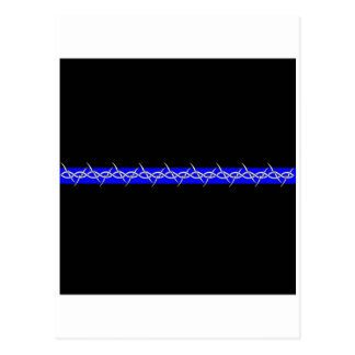 Corrections Barbed Wire Blue Line Postcard