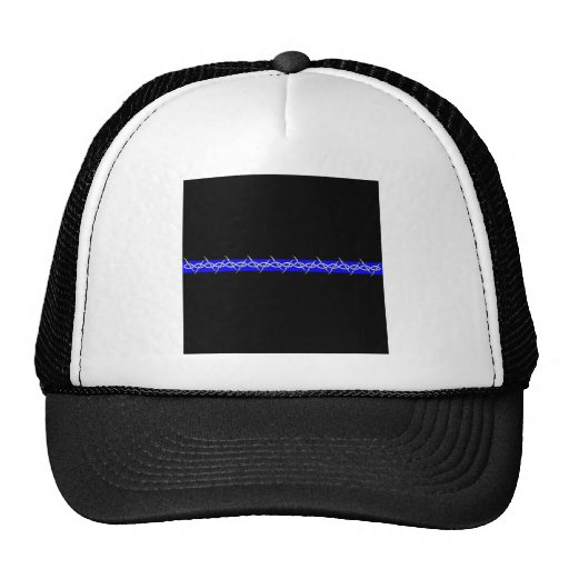 Corrections Barbed Wire Blue Line Trucker Hat