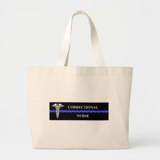 Corrections Nursing  rectangle Large Tote Bag