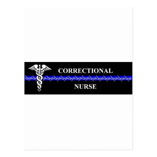 Corrections Nursing  rectangle Postcard