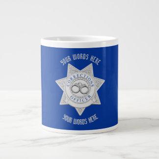 Corrections Officer Badge Custom Giant Coffee Mug