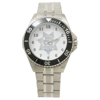 Corrections Officer Badge Custom Wristwatches