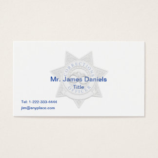Corrections Officer Custom Badge Business Card