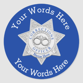 Corrections Officer Custom Classic Round Sticker