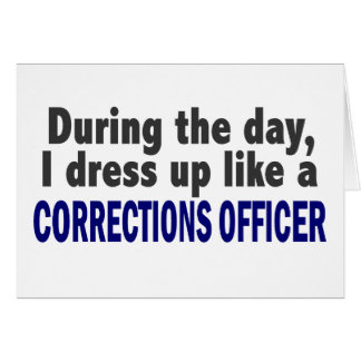 Corrections Officer During The Day Card