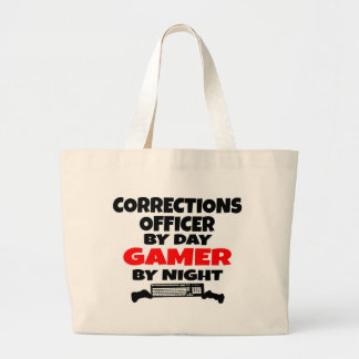 Corrections Officer Gamer Jumbo Tote Bag