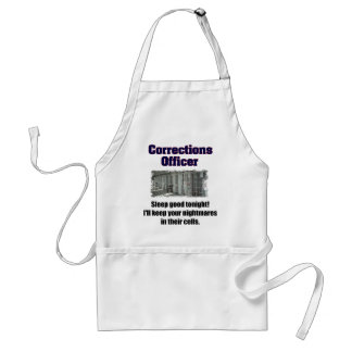 Corrections Officer Nightmares Adult Apron