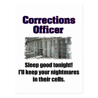 Corrections Officer Nightmares Postcard