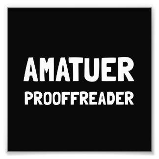 Corrector de pruebas fotografía