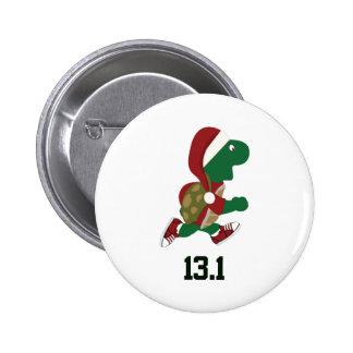 Corredor 13,1 de la tortuga del navidad pin redondo 5 cm