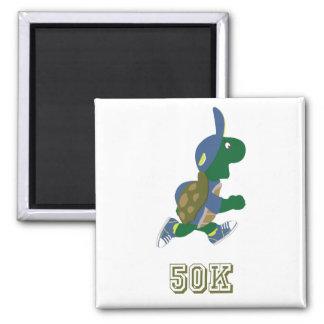 Corredor 50K - azul de la tortuga Imán Para Frigorifico