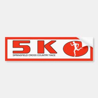 Corredor 5K del maratón personalizado Pegatina Para Auto
