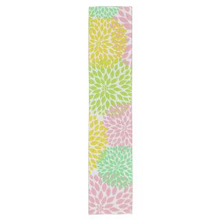 Corredor amarillo verde rosado de la tabla de las