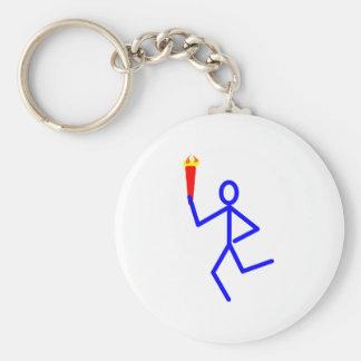 Corredor antorcha runner torch llavero redondo tipo pin