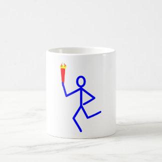 Corredor antorcha runner torch taza clásica