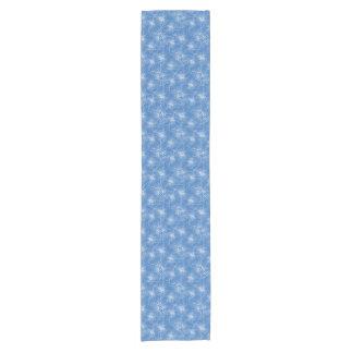 Corredor azul floral de la tabla de la sizigia de camino de mesas corto