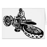 Corredor campo a través de la motocicleta tarjetas