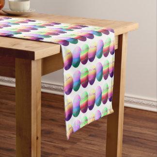 Corredor colorido de la tabla de los huevos de camino de mesa corto