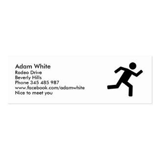Corredor - corriendo tarjetas de visita mini