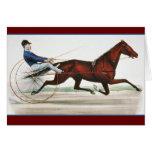 Corredor de caballo de arnés - bella arte del tarjeta de felicitación