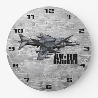 Corredor de cross de AV-8B II Reloj Redondo Grande