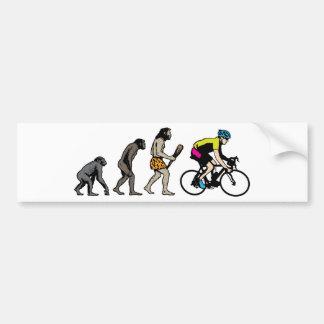 Corredor de la bici pegatina para auto