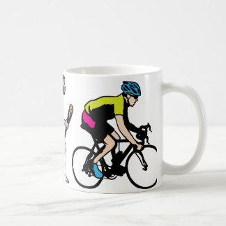 Corredor de la bici tazas