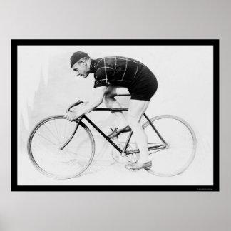 Corredor de la bicicleta, normando Anderson 1914 Poster